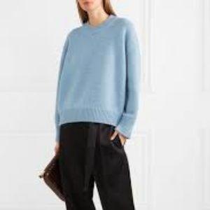Mansur Gavriel Blue Merino Wool Cardigan Sweater